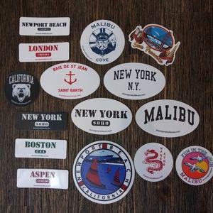 15 pc Brandy Melville Sticker Collection Malibu